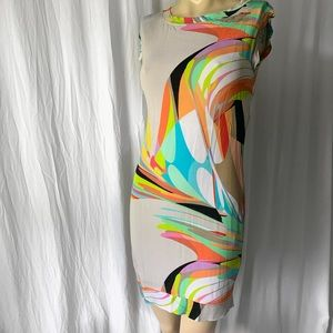 Trina Turk Colorful Body Forming Jersey Dress